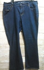 Old Navy Mid-Rise curvy profile straight jeans